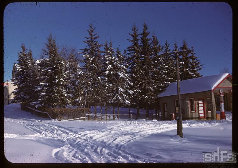 Clark's Spruce Hotel (Behind) & Garage Kenosse Lake 11/25/1946