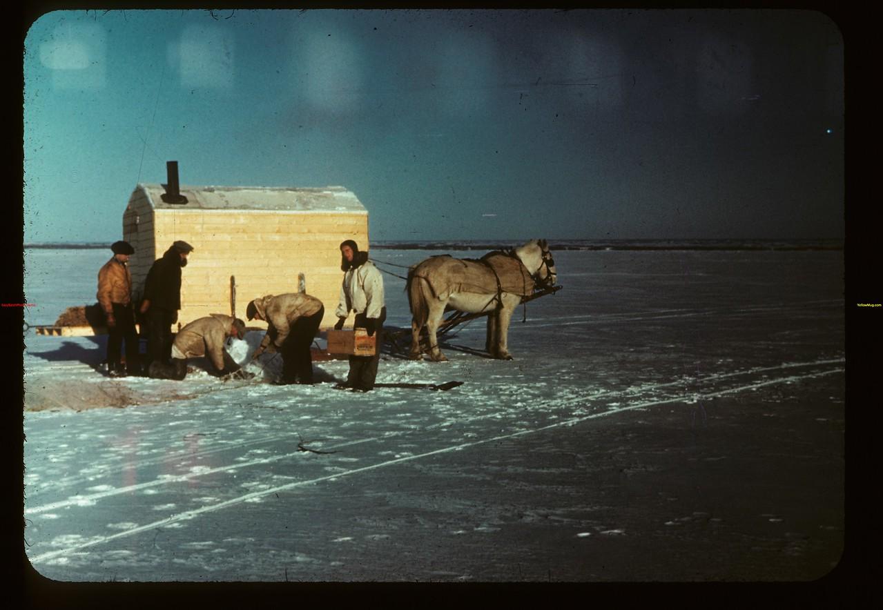 Jackfish Lake (ice fishing). Meota 01/06/1942