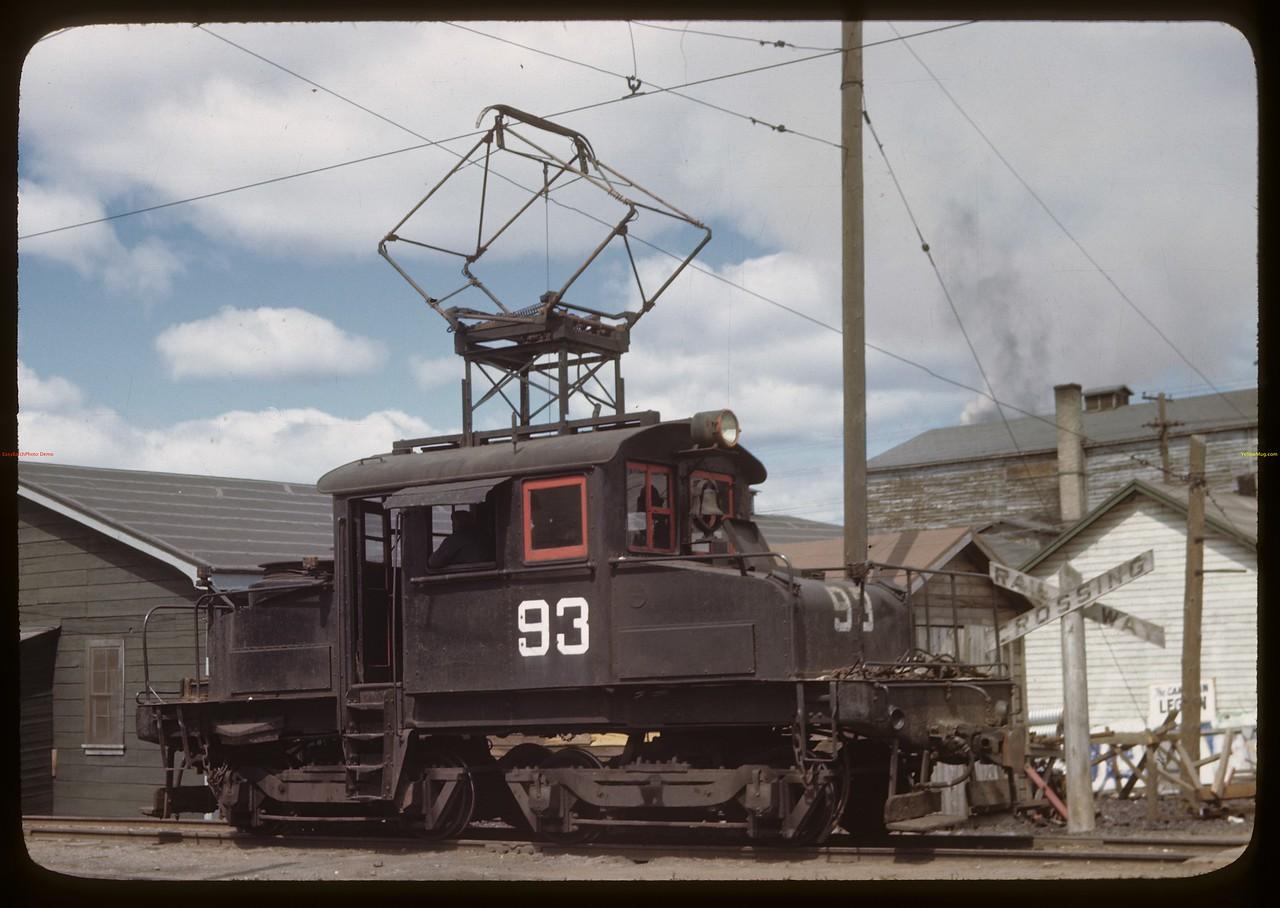 Flin Flon electric engine - power from Island Falls Hydro Station located in Saskatchewan. Flin Flon. 06/22/1946