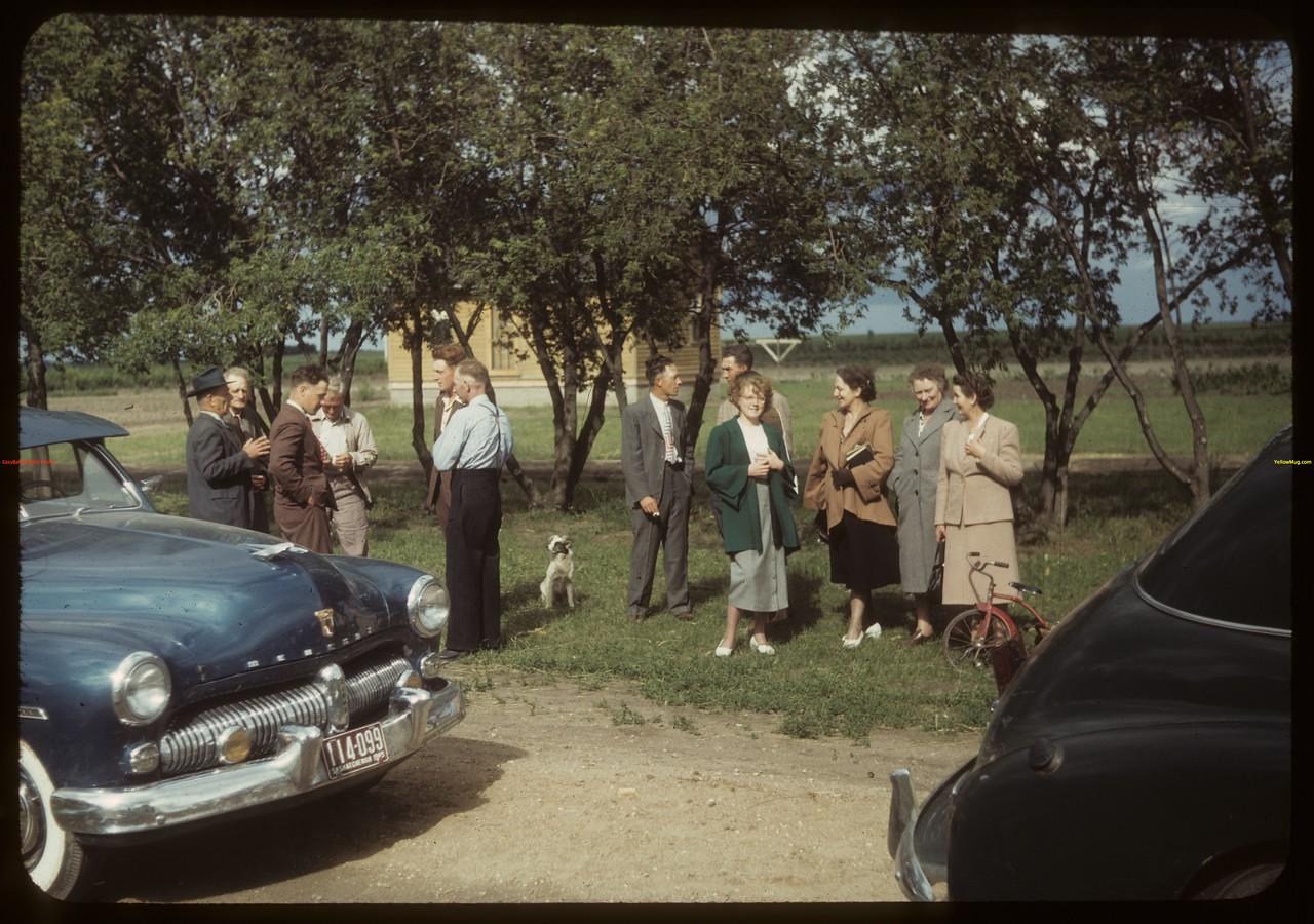 District 3 study tour visiting members Laurel co-op farm. Meskanaw 07/17/1949