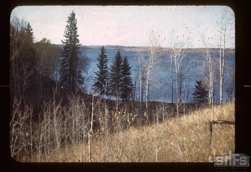 S. E. Upper Makwa. Looking N. W. Loon Lake 10/08/1944