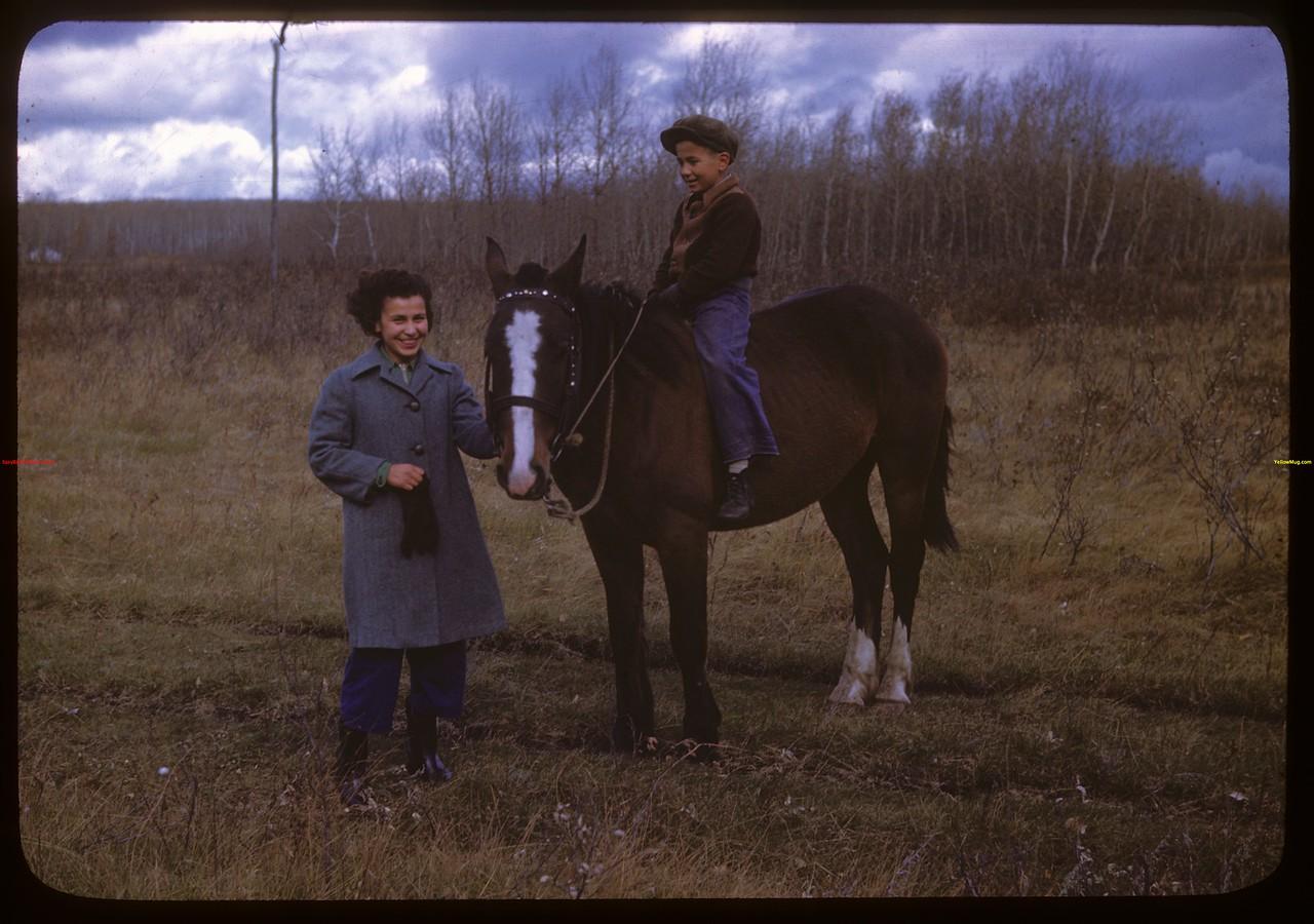 Helen Jeffries and David Robertson.  Onion Lake.  10/09/1946