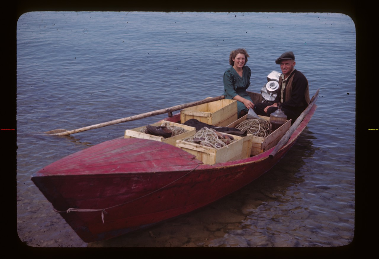 Paul and Katie Wandler on Big Island Lake	 Goodsoil	 08/18/1945