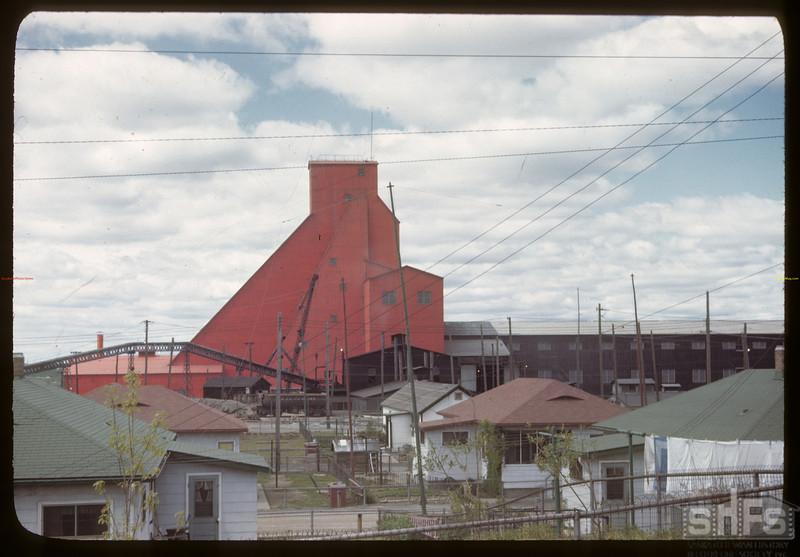 The north hoist - 3rd mine shaft. Flin Flon. 06/22/1946