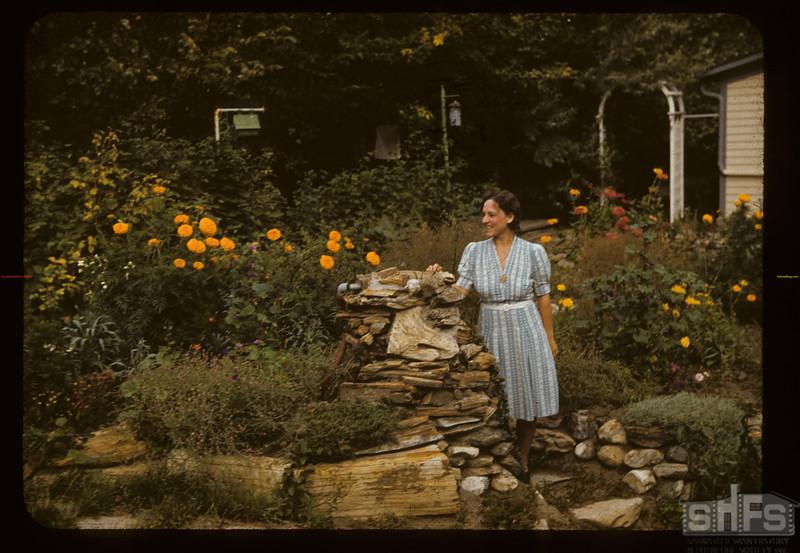 Petrified wood garden. Eastend. 09/10/1941