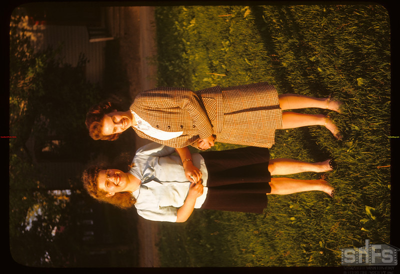 """PA co-op school broadcast """"River of the Roses"""". - Audrey MacKenzie and Myrtle Hanson.  Prince Albert.  07/12/1946"""