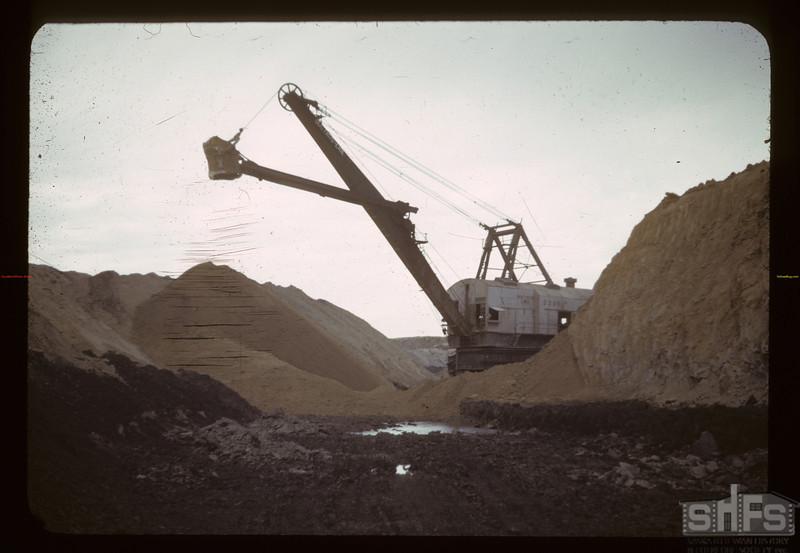 Stripper shovel up with 10 cubic yards. Bienfait 09/10/1942