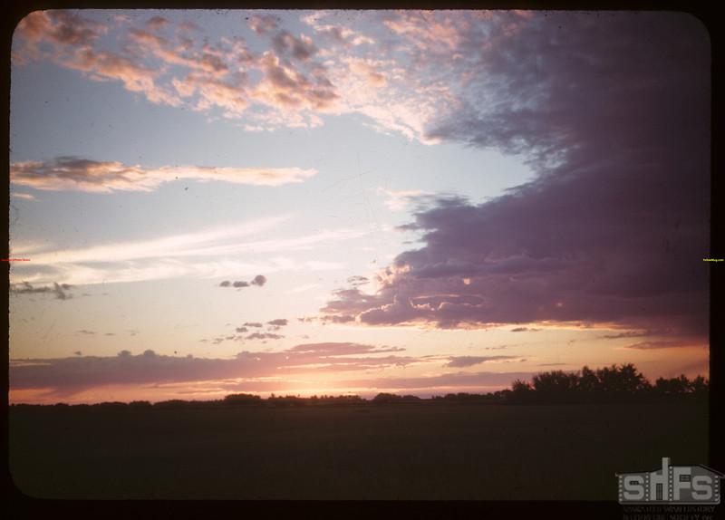Sunset NW of North Battleford.  North Battleford.  07/22/1945