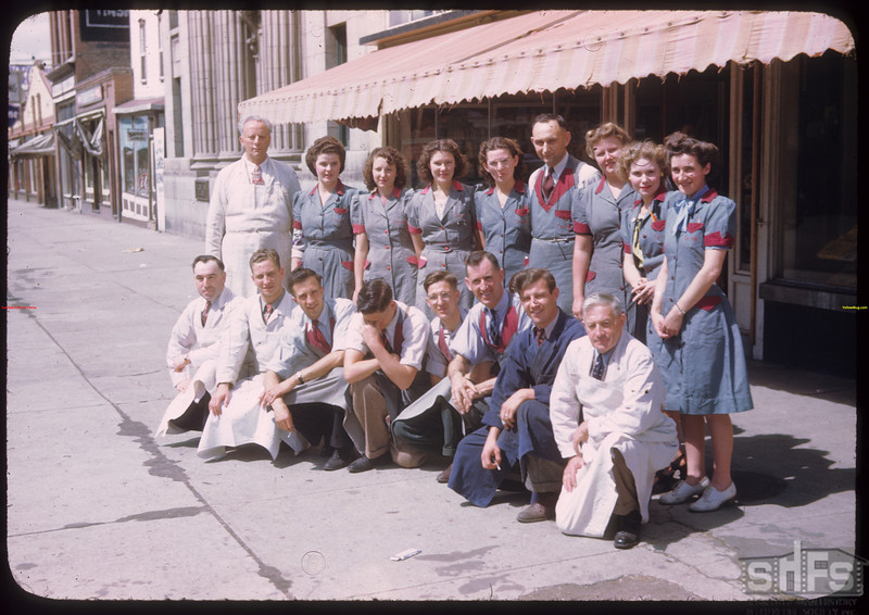 Moose Jaw co-op store and staff - U.S. Co-op Tour.	 Moose Jaw	 08/09/1946