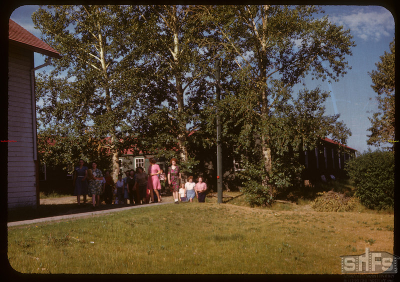 Girls comimhg to PA co-op school..  Prince Albert.  07/09/1947