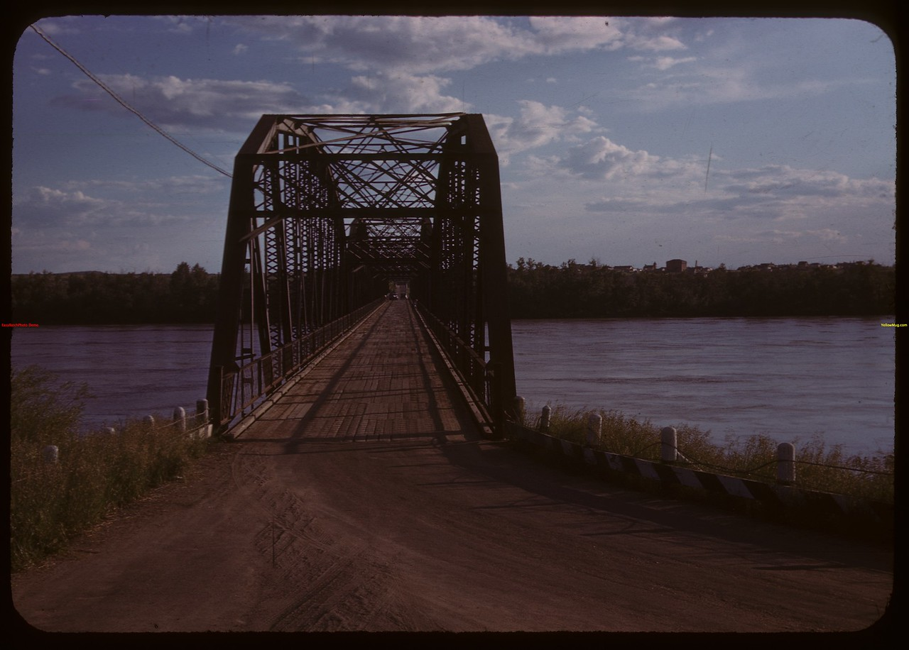 North Sask. River bridge.  North Battleford.  06/19/1944