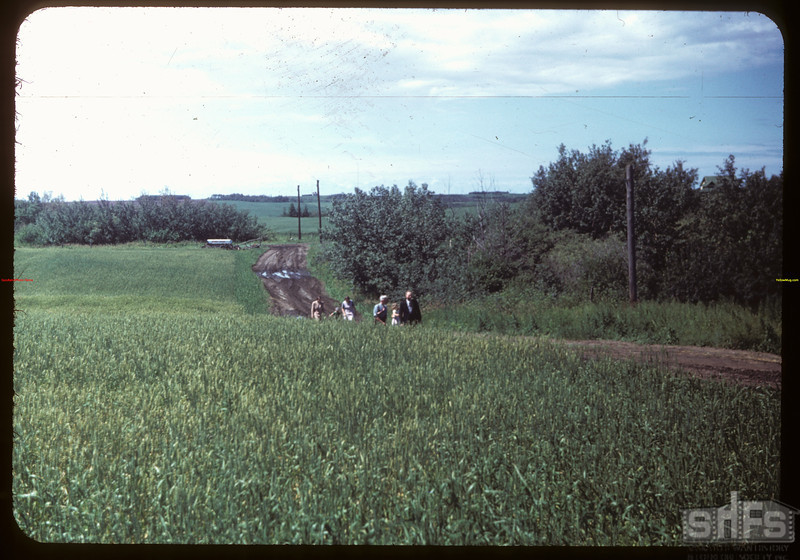 District # Study Tour - Left one car down road.  North Battleford.  07/21/1949