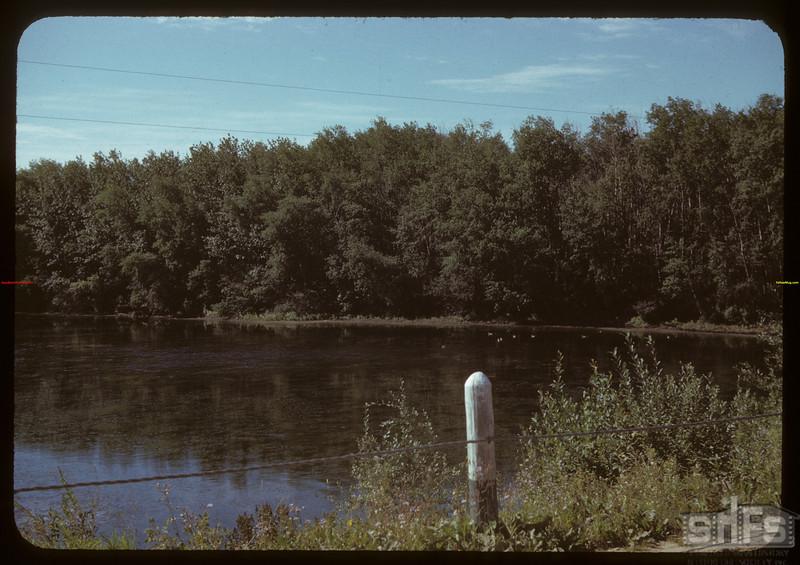 Saskatchewan River 5 miles east of Prongua..  Prongua.  08/15/1942