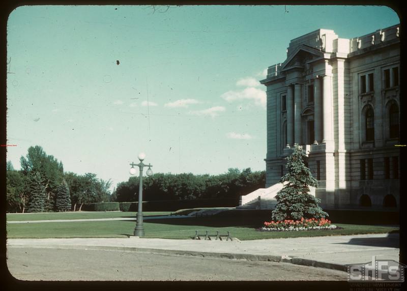 East wing - Legislative Building  looking S.E..  Regina.  08/10/1946