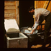Bill Heno packing pickerel Spawn. Makwa Narrows	 Loon Lake	 05/02/1941