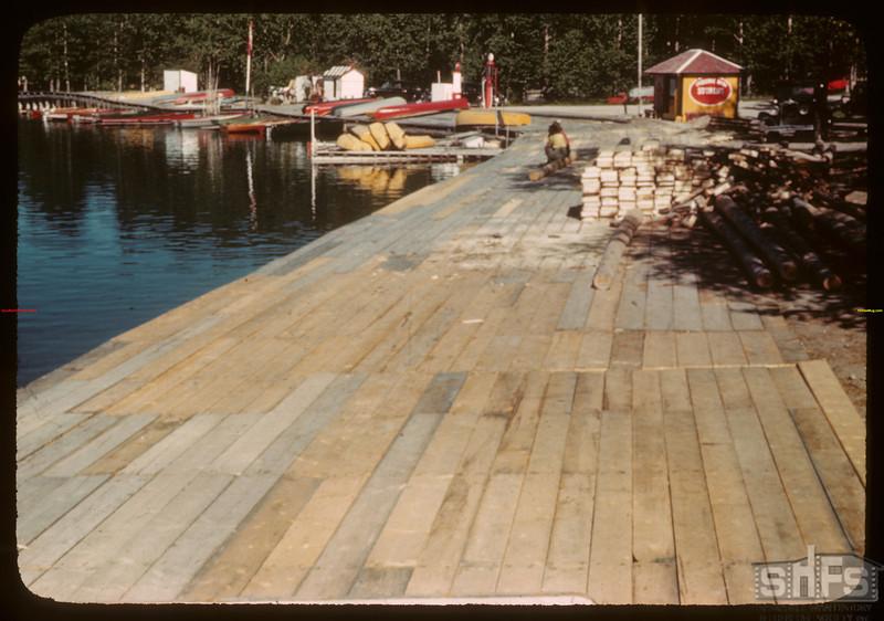 Waskesiu boardwalk - P.A. National Park.  Waskesiu.  06/18/1946