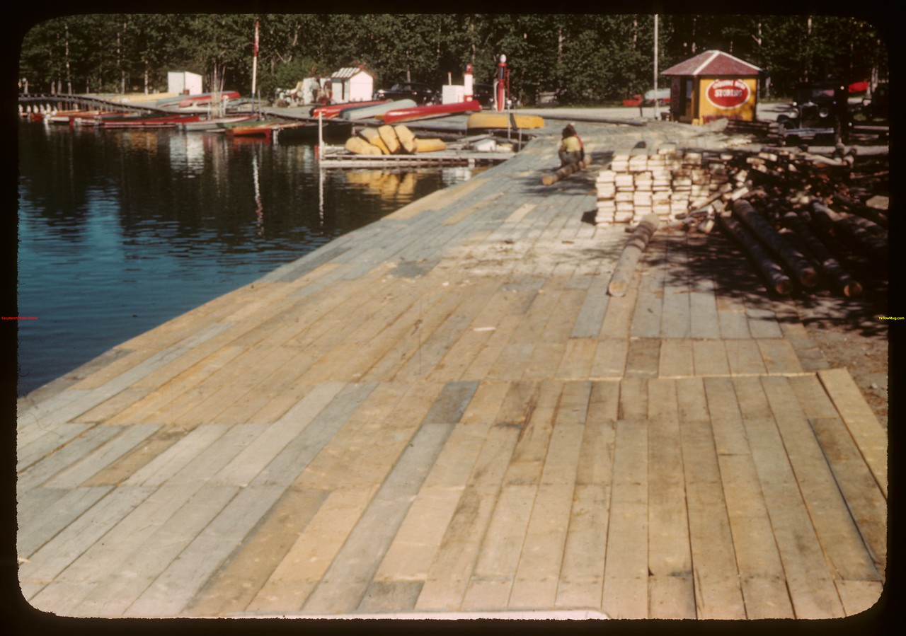 Waskesiu boardwalk - P.A. National Park.  Waskesiu.  06/18/1946