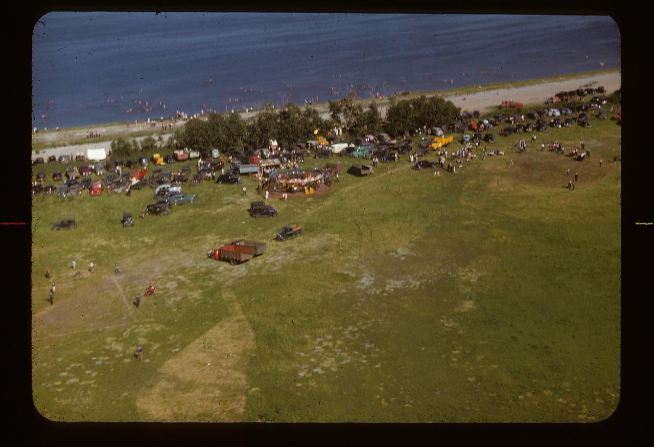 Fishing Lake Pool picnic from the air Fishing Lake 07/13/1947