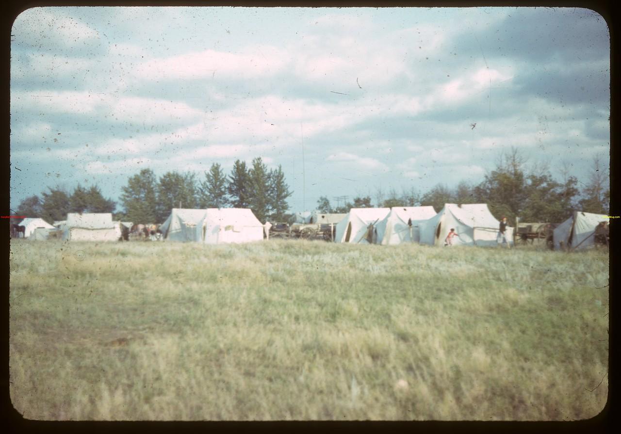 Indians camping during North Battleford fair..  North Battleford.  08/10/1942