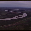 Aerial view of North Saskatchewan River approaching PA..  Prince Albert.  06/22/1946
