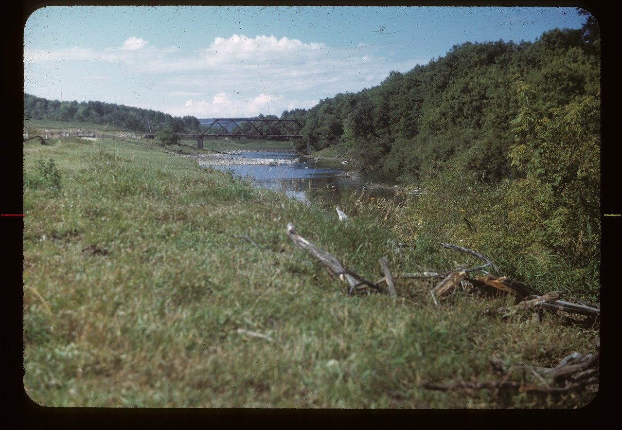 Assiniboine River south of Burney Bridge NE of MacNutt - Johnny Burney 1879 Pyott Bridge now MacNutt 09/02/1949