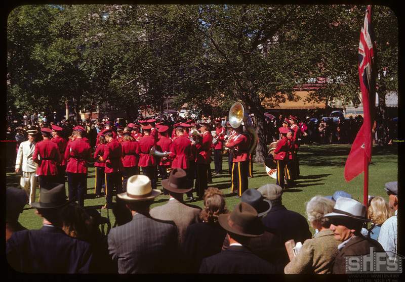 Williston North Dakota band at City Hall during Regina Fair..  Regina.  08/03/1946