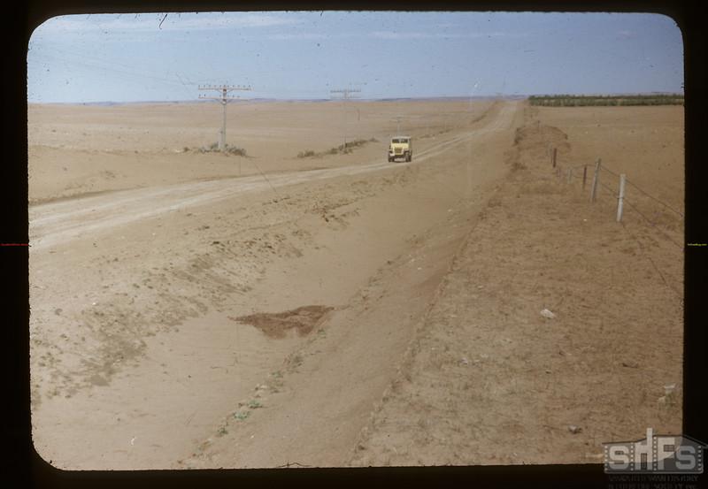 Wind erosion - NE corner cemetery. Admiral. 05/18/1949