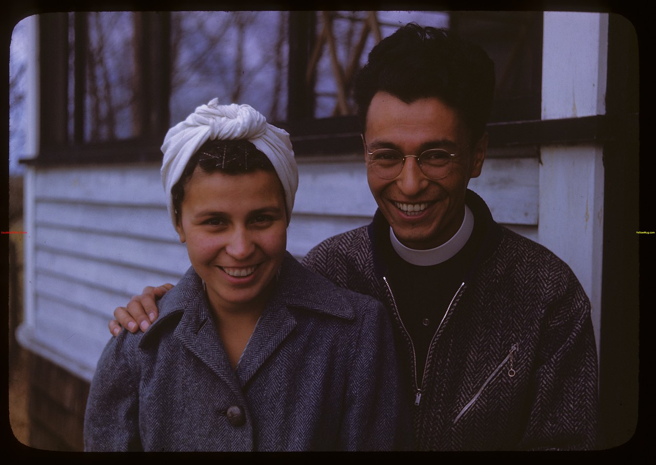 John and Helen Jeffries - Anglican Indian School.  Onion Lake.  10/09/1946