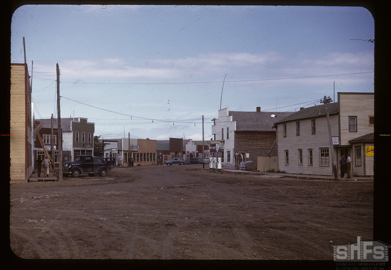 "The ""Bent Street"" town - looking NW. Carrot River. 08/21/1947"