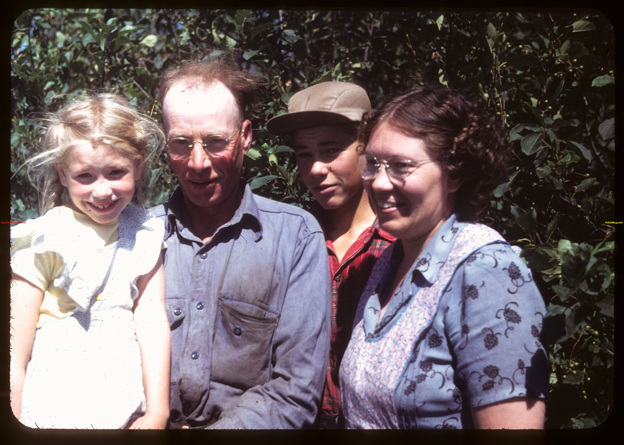 Bronson Keall & Family - Ex. President Mount Hope Farm Machinery Co-op.  North Battleford.  07/21/1949