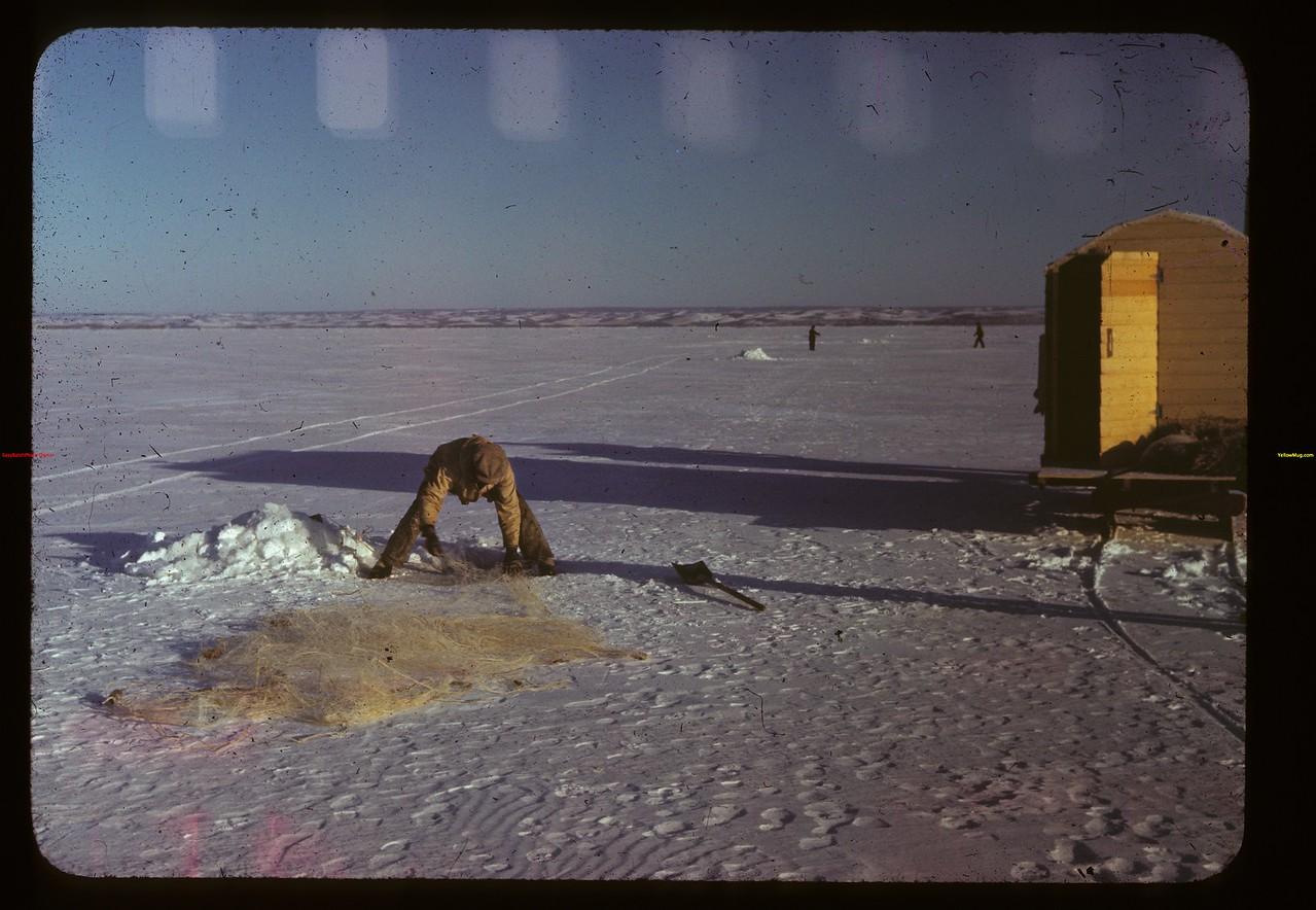 Winter fishing - Jackfish Lake Meota 01/06/1941
