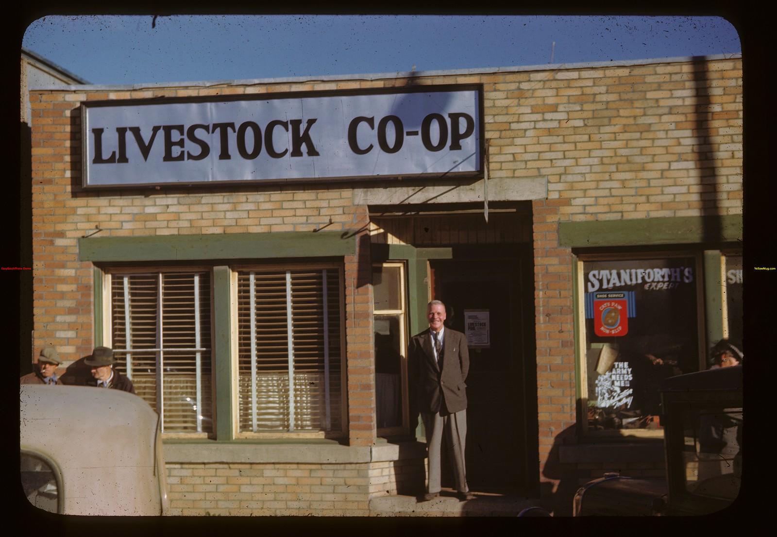 Livestock Co-op office - Edwards in door. Melfort 09/28/1946