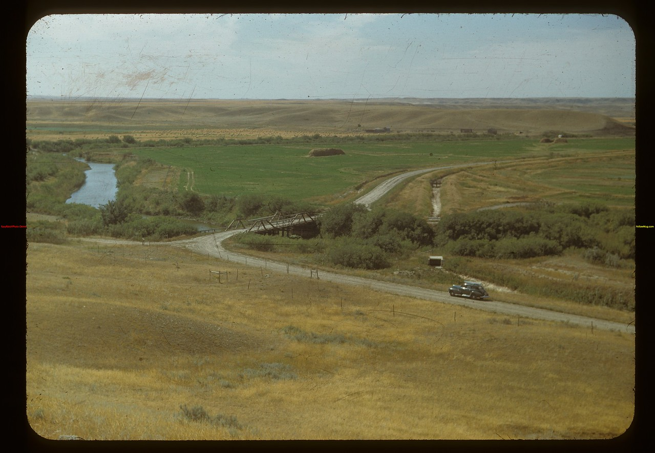 Irrigation on the White Mud (French Man) River. Eastend 09/03/1948