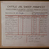 Canadian Livestock Cooperative cattle and sheep manifest - Lorlie to St. Boniface.  Regina.  03/25/1948