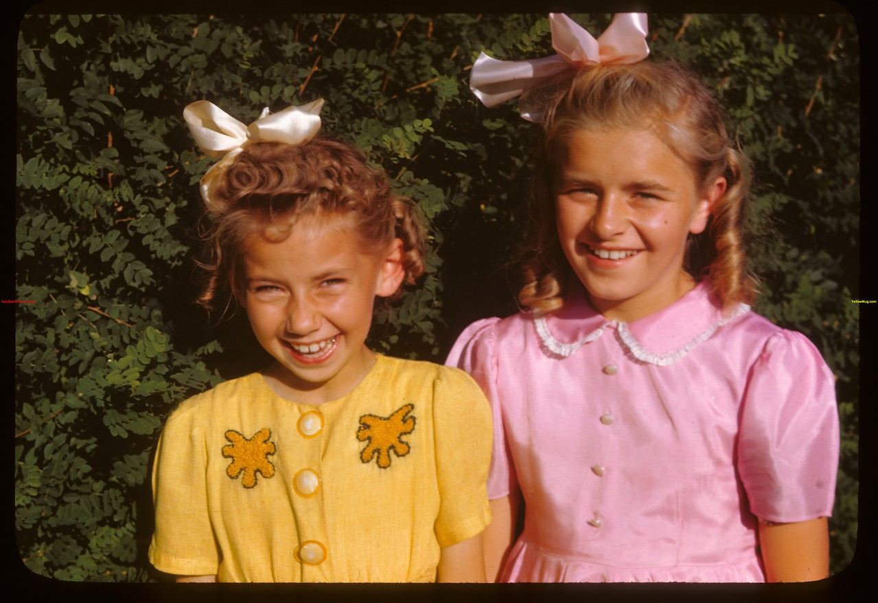 Sang Ukranian songs for PA co-op school broadcast - Elsie Deditch and Iris Satanski..  Prince Albert.  07/12/1946
