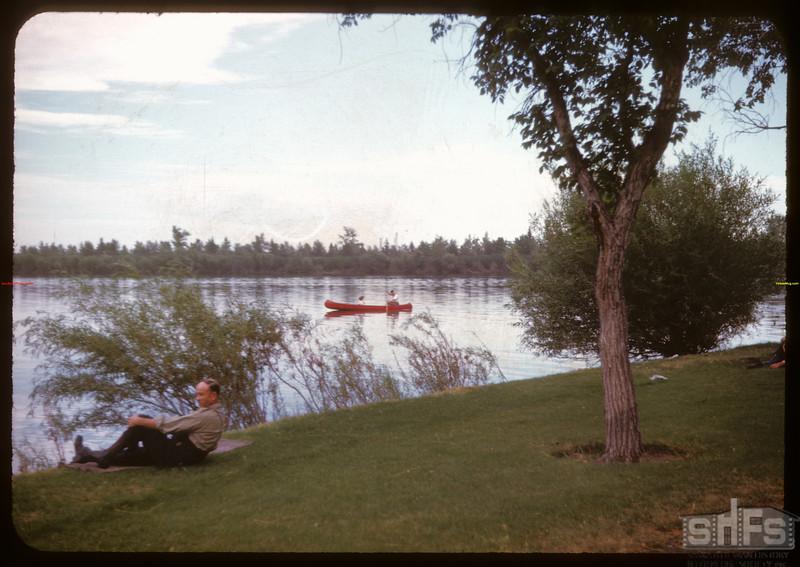 Wascana Legislative Grounds - shore line.  Regina.  08/03/1947