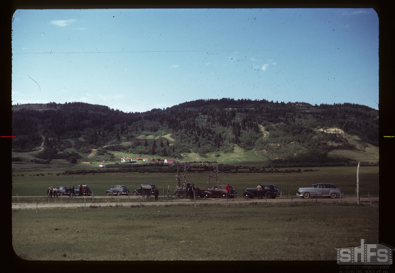 Co-op recreation tour at Boyd's ranch. Maple Creek 06/29/1949