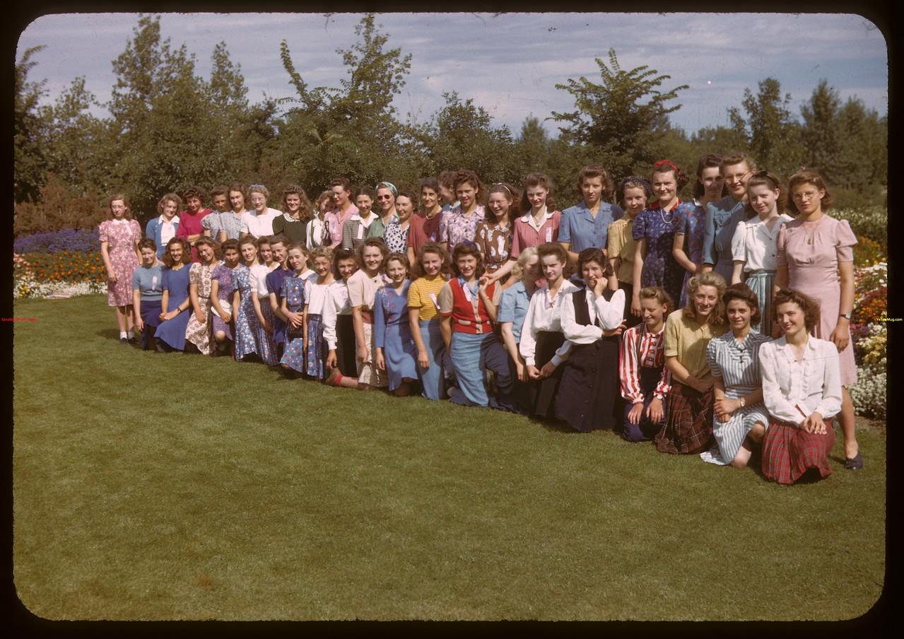 farm girls camp - North Battleford fair.  North Battleford.  08/10/1943