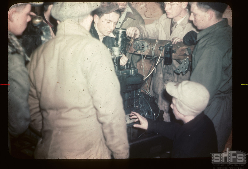 Motor Mechanics. Gavin Hamilton Instructing. Y-T-S.	 Kenosse Lake	 11/26/1946