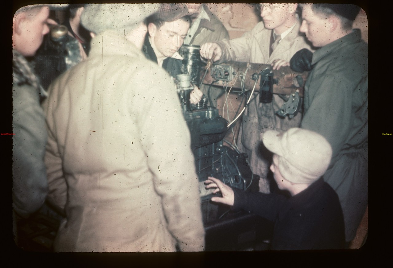 Motor Mechanics. Gavin Hamilton Instructing. Y-T-S. Kenosse Lake 11/26/1946