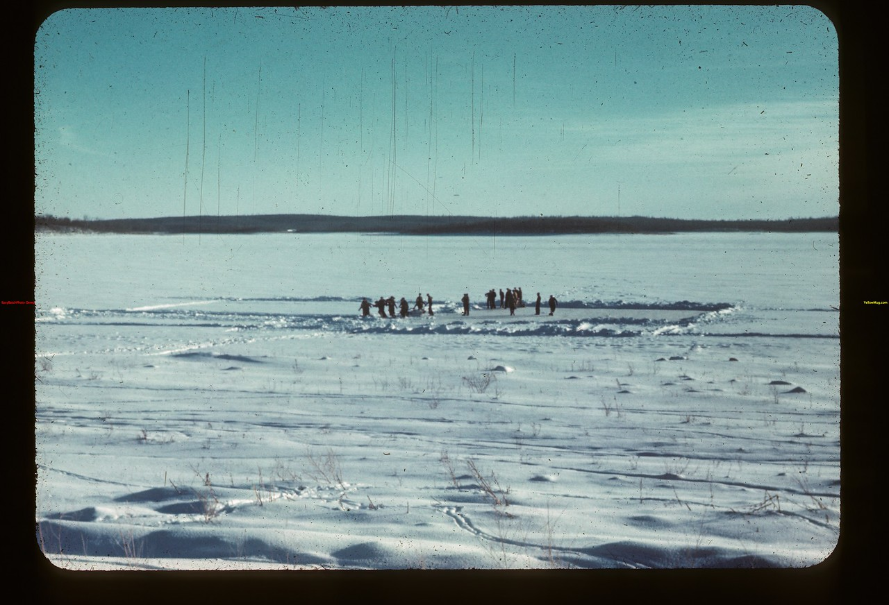 Clearing Ice for Skating Y-T-S. Kenosse Lake 11/25/1946