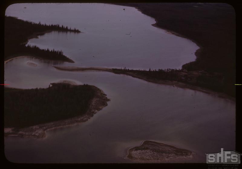 Aerial view of Emma Lake..  Emma Lake.  06/22/1946