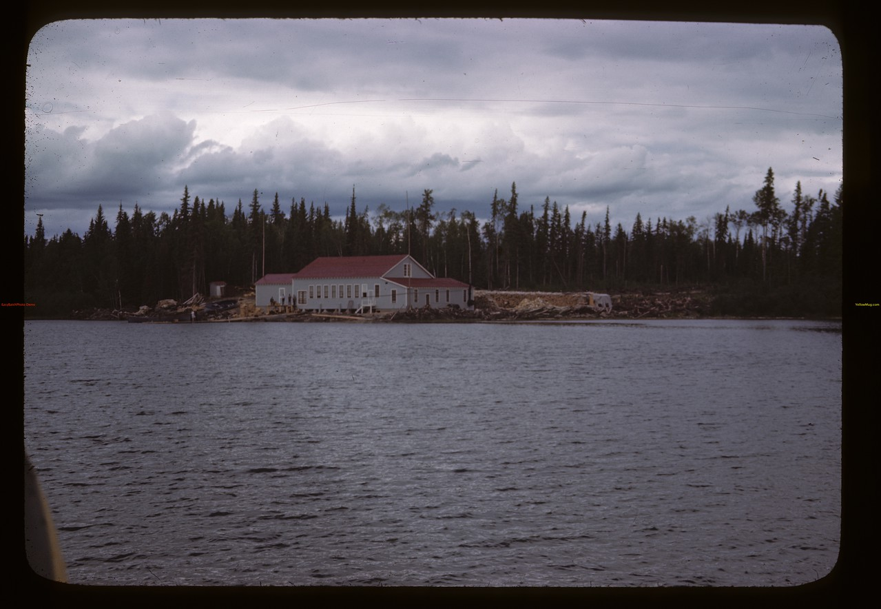 Taxiing in by plane to Government fish filleting plant. Beaver Lake. 06/21/1946