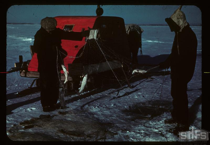 Winter fishing - Jackfish Lake Meota 01/06/1942