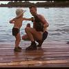 Bob Hughes Sr. and Bobby Hughes at the Regina Boat Club.  Regina.  08/03/1947