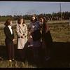 Brora picnic - Evelyn Simpson & Helen Simpson & Evelyn Pearce & Alvina Simpson.  Brora.  06/28/1946