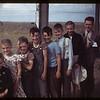 Quimper school students & teacher - Clare Blake. Aneroid. 08/10/1949