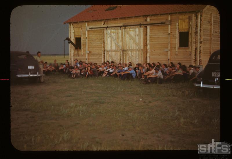 Lorne Dietrick Addresses Co-op School at Co-op Farm Matador 07/07/1948