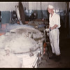 Co-op horse plant - Cooking tinned meat.	 Swift Current.	 07/03/1946