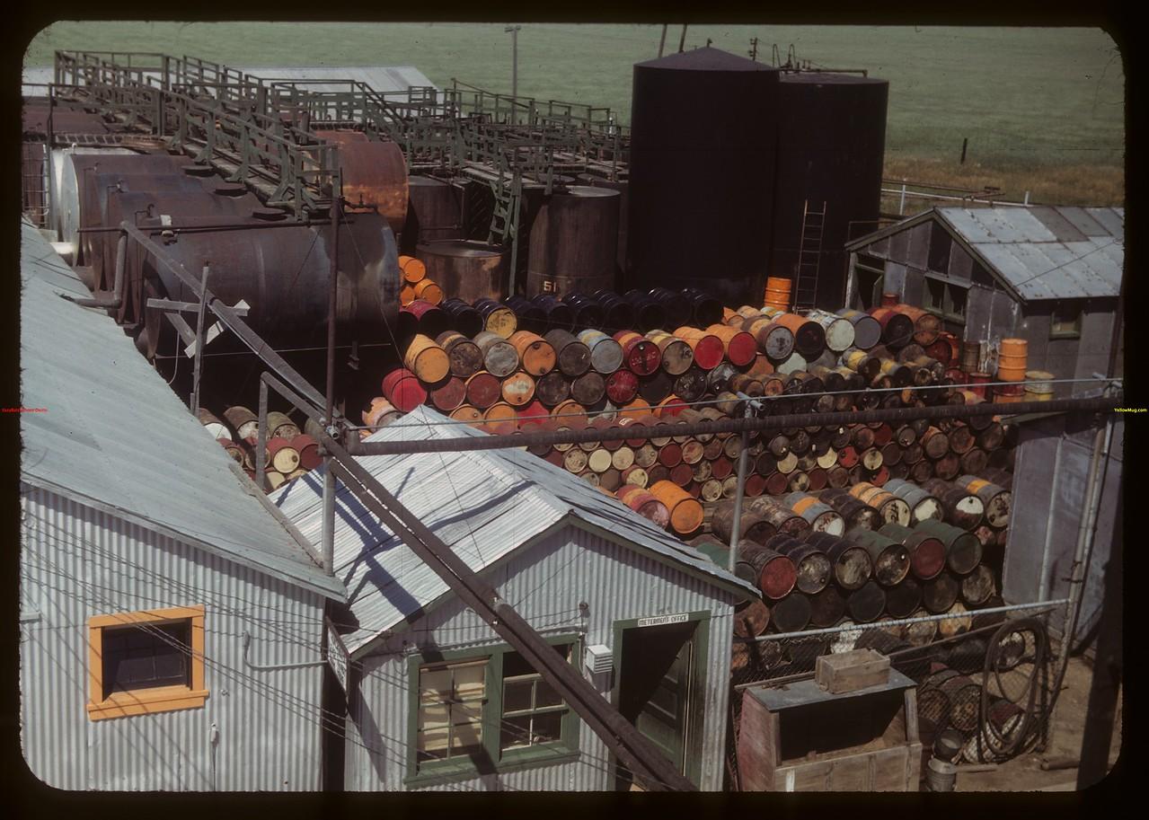 Federated Co-op refinery drum yards.  Regina.  07/16/1949